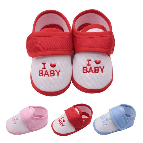 Cute Lovely Baby Shoes Toddler I Love First Walkers