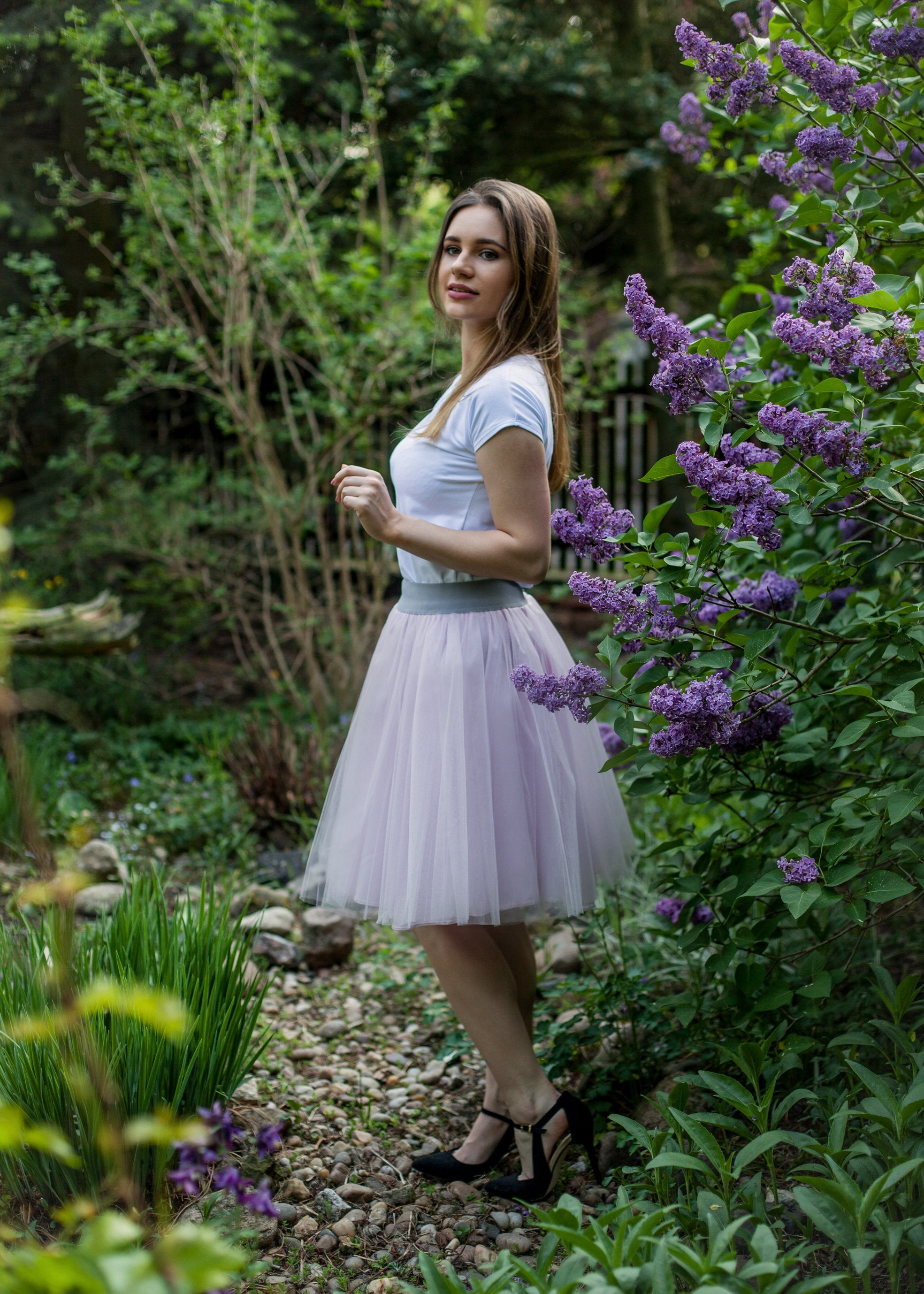 Pale Pink Tulle Skirt
