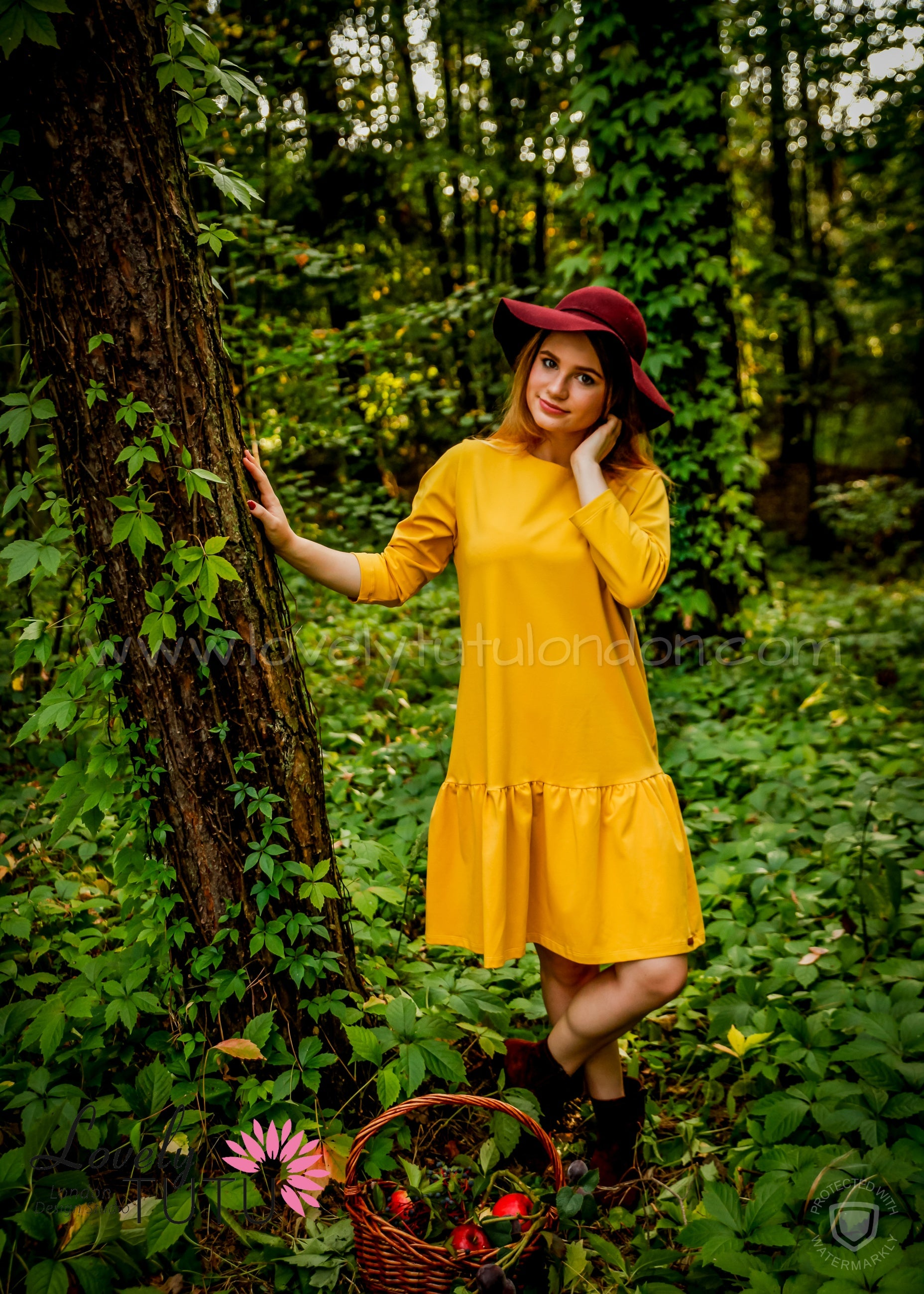 Mustard Dress (American Organic Cotton)