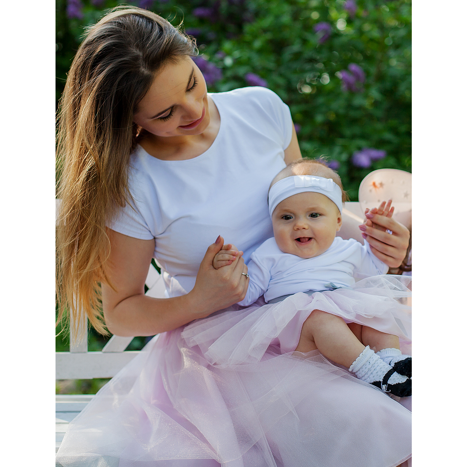 Pale Pink Tulle Skirts - Mum And Daughter Set Skirt