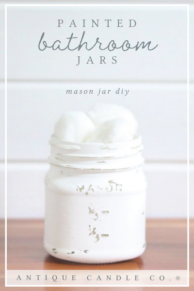 mason jar diy: bathroom jars