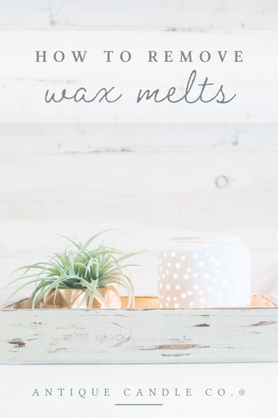 how to remove wax melts