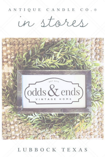Antique Candle Co. in stores: Lubbock Odds + Ends