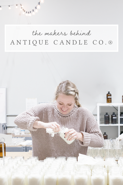 the makers behind Antique Candle Co.