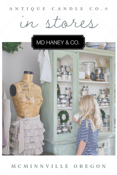 Antique Candle Co. in stores: MD Haney + Co