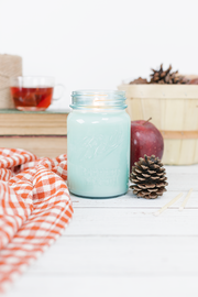 Autumn Woods 16 oz blue jar candle
