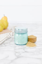 Country Pear by Cotton Stem 8 oz blue jar candle