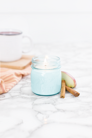 Apple Cider 8 oz blue jar candle