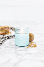 Pecan Pie 8 oz blue jar candle
