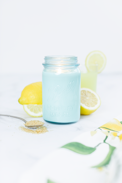 Sweet Lemon - Vintage Blue Glass Ball Jar