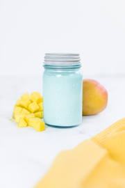 Mango Citrus - Vintage Blue Glass Ball Jar