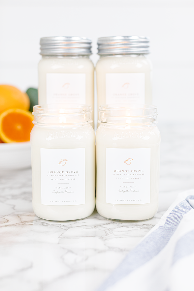 Orange Grove by Our Faux Farmhouse Bundle of Four