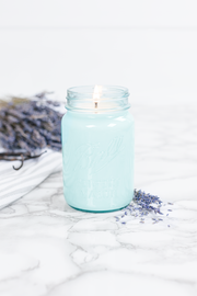 Lavender Vanilla 16 oz blue jar candle