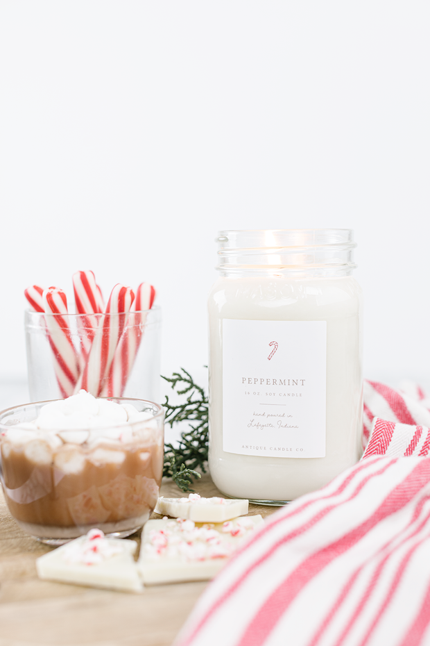 Peppermint 16 oz candle