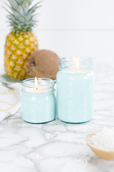 Pineapple Coconut Blue Jar Bundle