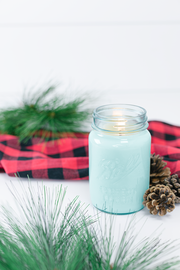 Tree Farm by Vintage Porch 16 oz blue jar candle