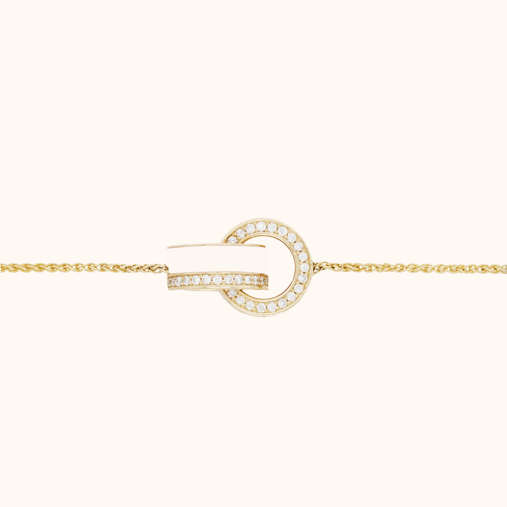 The Essex Bracelet in Ivory White, Yellow Gold