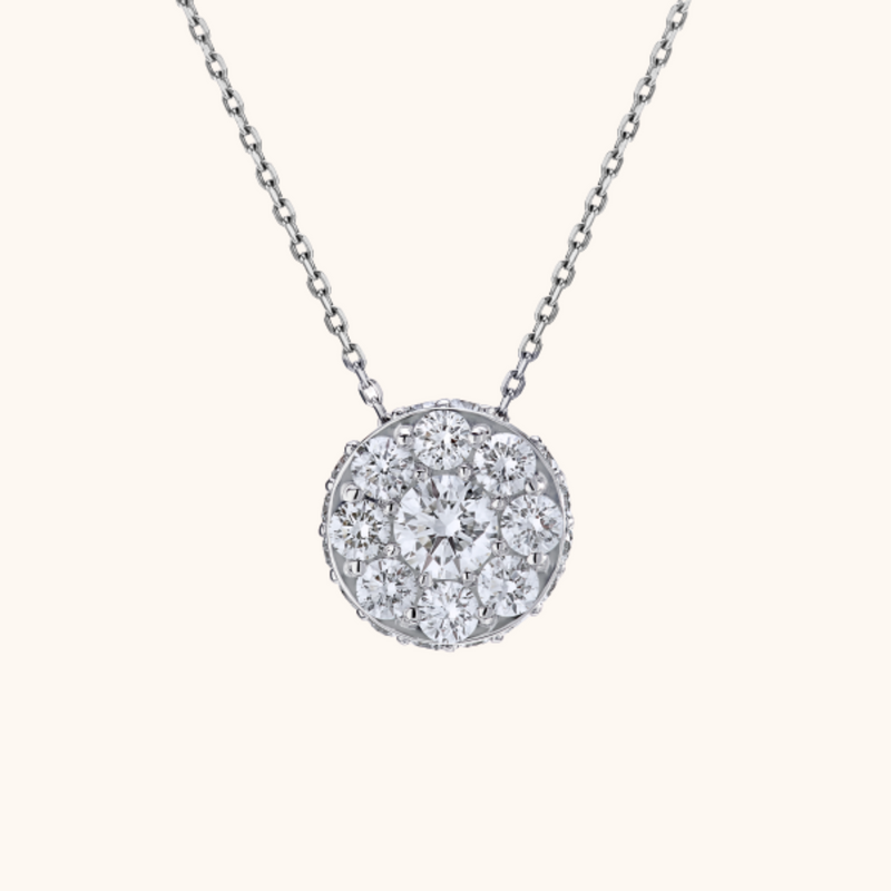The Empire Necklace, White Gold