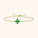 The Mulberry Bracelet in Scarlet Red/Emerald Green, Yellow Gold
