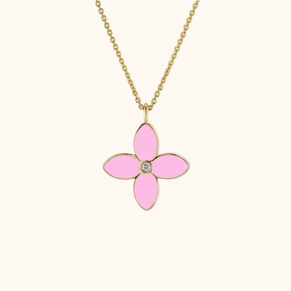 The Mulberry Necklace in Aqua/Baby Pink