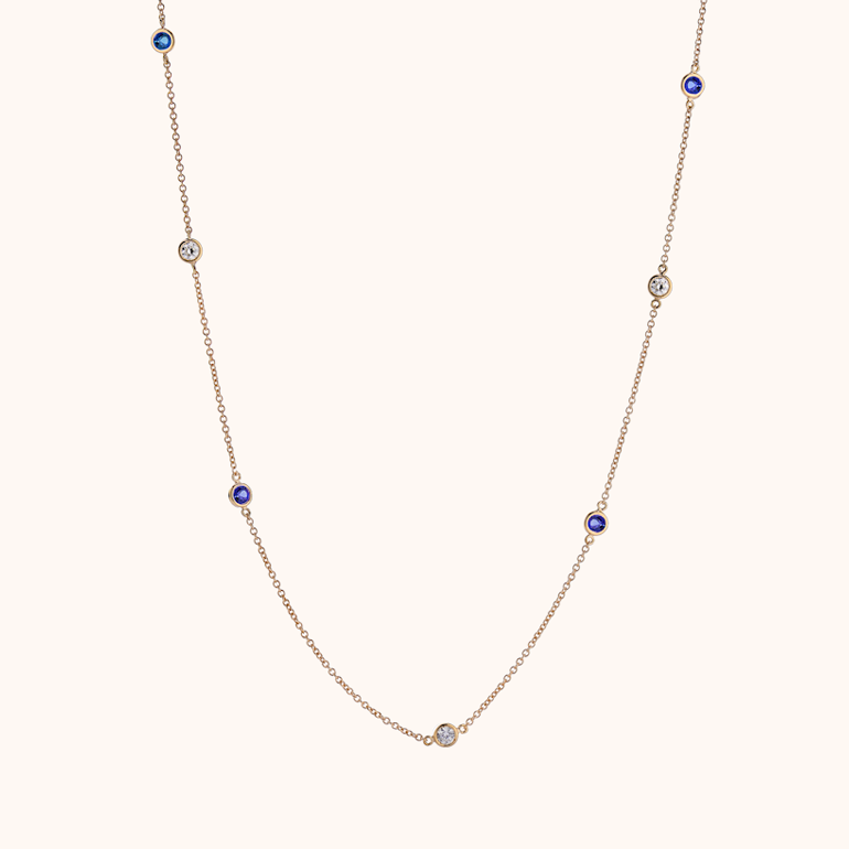 The Chrysler Necklace with Tanzanite
