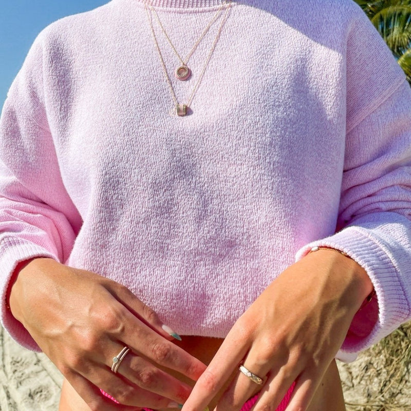 The Crosby Necklace in Baby Pink