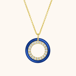 The Crosby Necklace in Royal Blue, Yellow Gold
