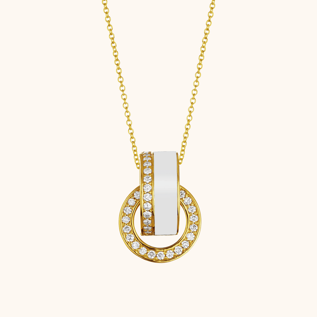 The Essex Necklace in Ivory White, Yellow Gold