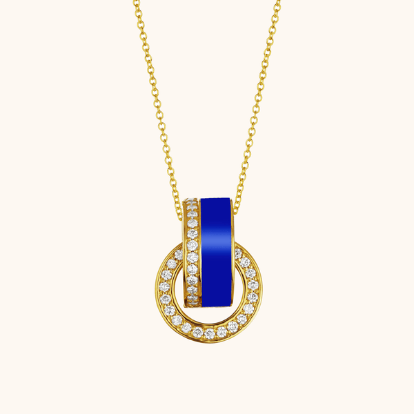 The Essex Necklace in Royal Blue, Yellow Gold