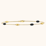 The Hampton Bracelet in Midnight Black, Yellow Gold