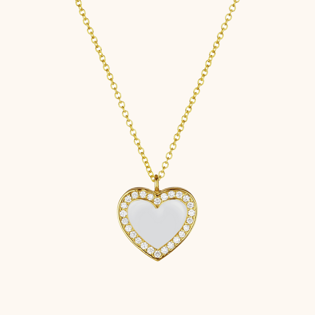 The Jane Necklace in Ivory White, Yellow Gold