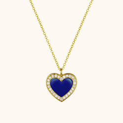 The Jane Necklace in Royal Blue, Yellow Gold