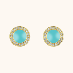 The Lafayette Earrings in Aqua