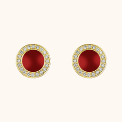 The Lafayette Earrings in Scarlet Red
