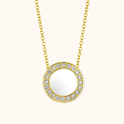 The Lafayette Necklace in Ivory White, Yellow Gold
