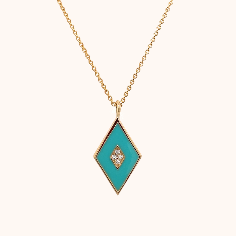 The Mercer Necklace in Aqua