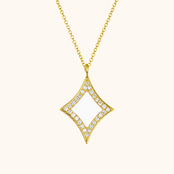 The Eldridge Necklace in Ivory White, Yellow Gold