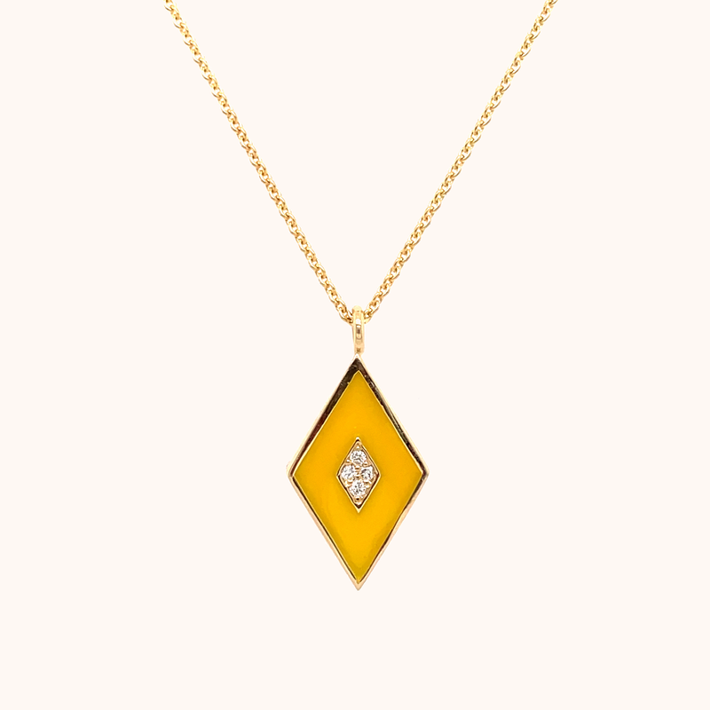 The Mercer Necklace in Yellow