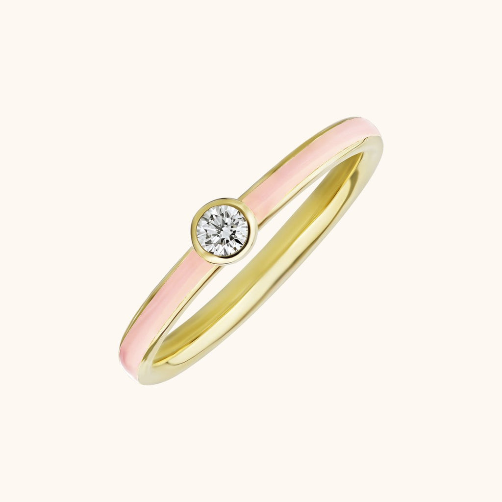 The Queen Band in Blush Pink, Yellow Gold