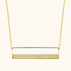 The Roxy Necklace in Ivory White, Yellow Gold