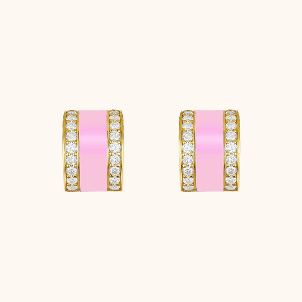 The Spring Earrings in Baby Pink