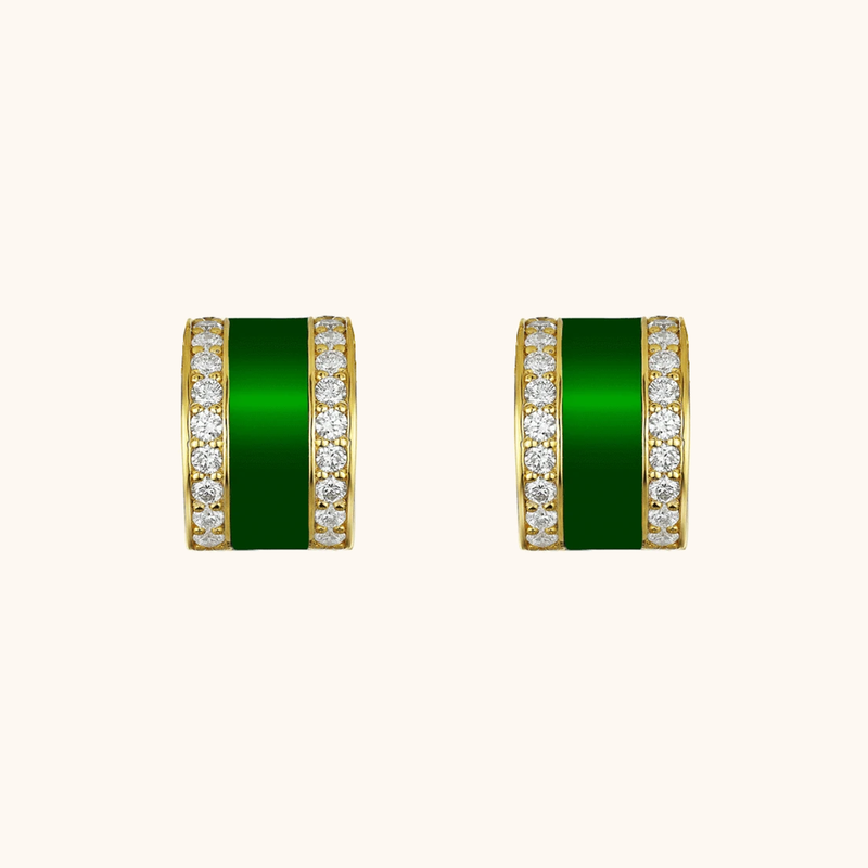 The Spring Earrings in Emerald Green