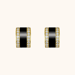 The Spring Earrings in Midnight Black