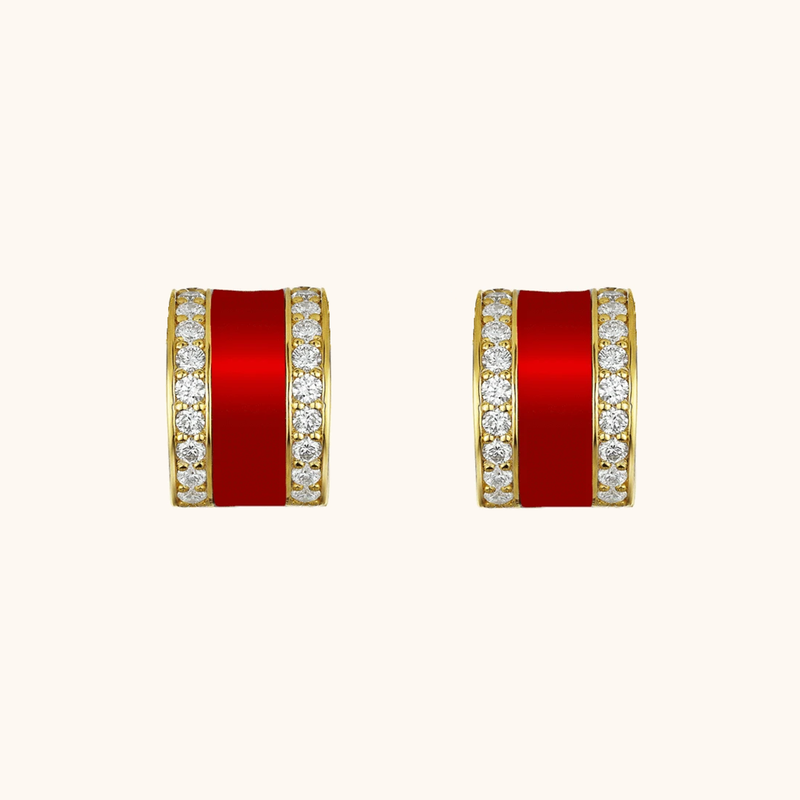 The Spring Earrings in Scarlet Red