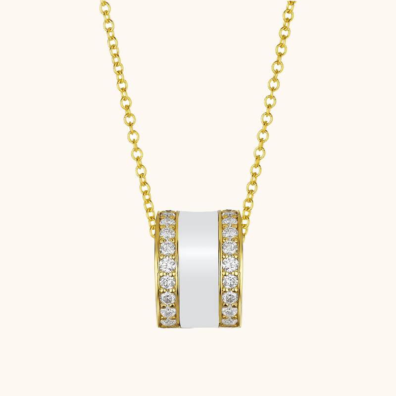 The Spring Necklace in Ivory White, Yellow Gold
