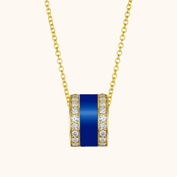 The Spring Necklace in Royal Blue, Yellow Gold