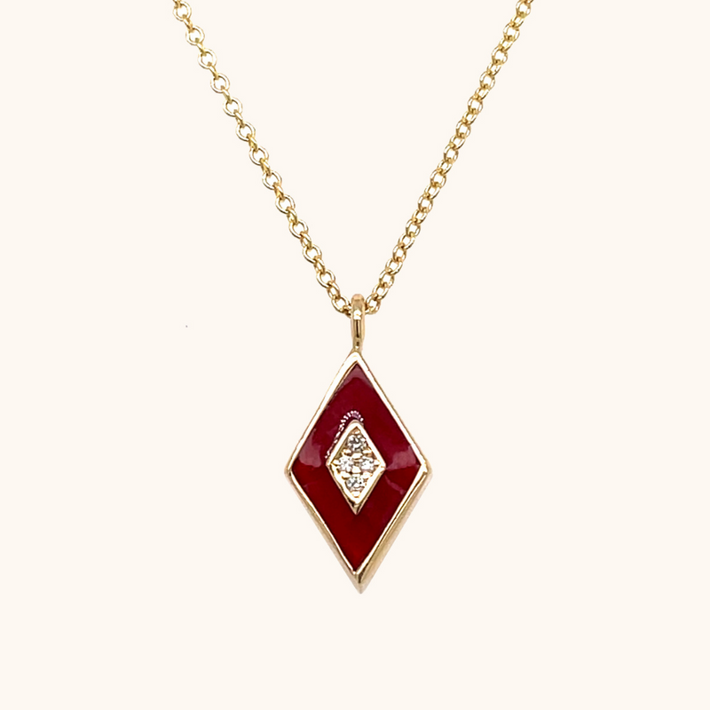 The Mercer Necklace in Scarlet Red