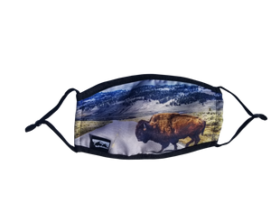 Montana Bison Face Mask with Filter
