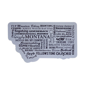 Montana Word Sticker