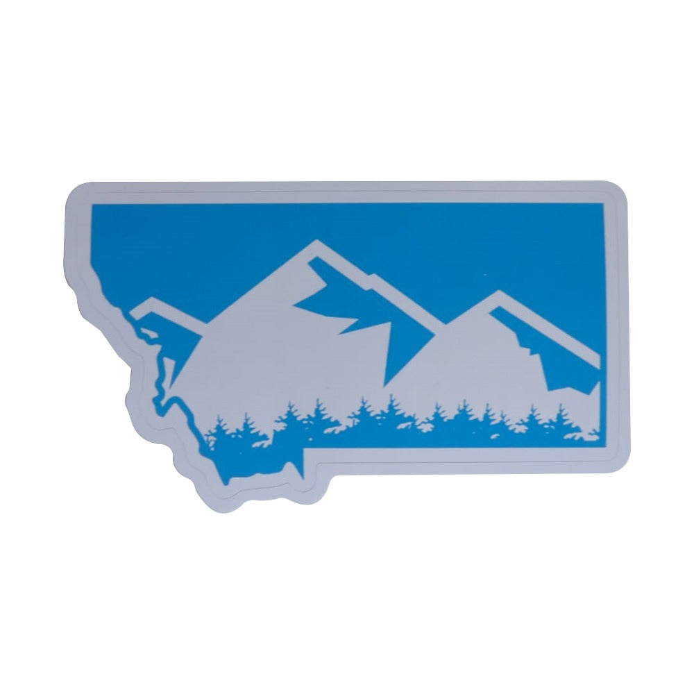 Montana Mountain Sticker Aqua